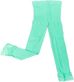 Wrapables Toddler Stretch Leggings with Lace Trim Turquoise