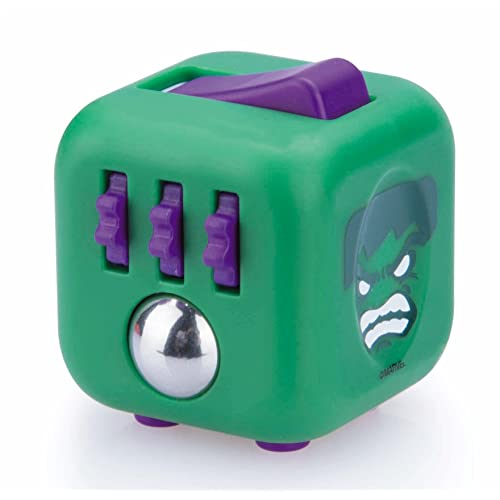 Official Marvel Hulk Zuru Fidget Cube by Antsy Labs - Six Unique Sides Dice Toy Relieves Stress and Anxiety Attention Toy for Children and Adults - Green