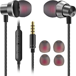 JUKSTG イヤホン ノイズアイソレーション インイヤーヘッドフォン ピュアサウンド パワフルな低音 高感度マイクとボリュームコントロール付き