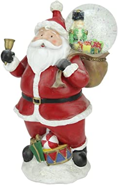 "Northlight 11"" Santa Claus with Toy Sack Glittering Snow Dome Snow Globe Christmas Table Top Figure"