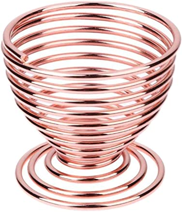 Preisvergleich für Leisial Make-up Schwammhalter Eierbecher Metall Eierbecher Halter Spiralfeder Draht Tablett Eierbecher 5 * 5CM