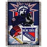 The Northwest Company NHL New York Rangers 'Home Ice Advantage' Woven Tapestry Throw Blanket, 48' x 60' , Blue