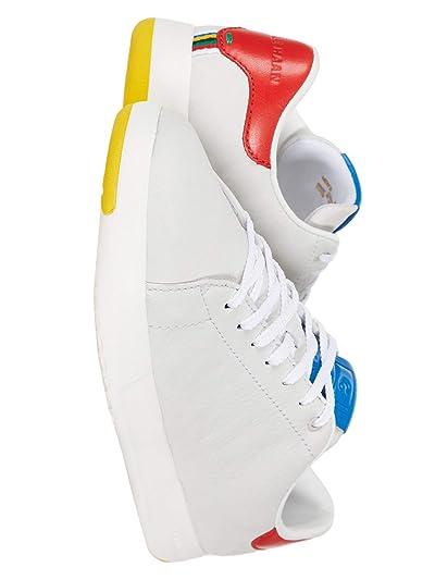Cole Haan GrandPro Tennis Sneaker (Light Gray Nubuck/Flame/Blue) Men
