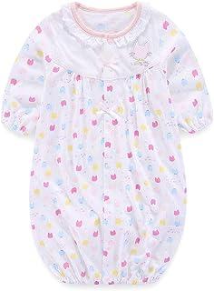 Boo.Kabee ねこシルエット柄 新生児ツーウェイオール 女の子 薄手 長袖 50-70cm BKB123000F