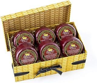 6 x Caramelised Onion & Rioja Cheddar 200g Wax Truckles Faux