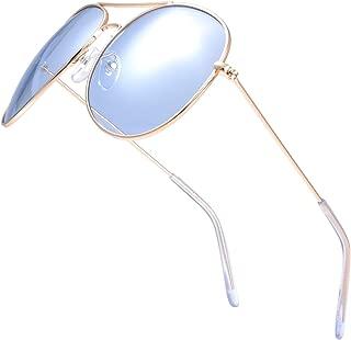 The Fresh Classic Aviator Frame Light Color Lens XL Oversized Sunglasses Gift Box