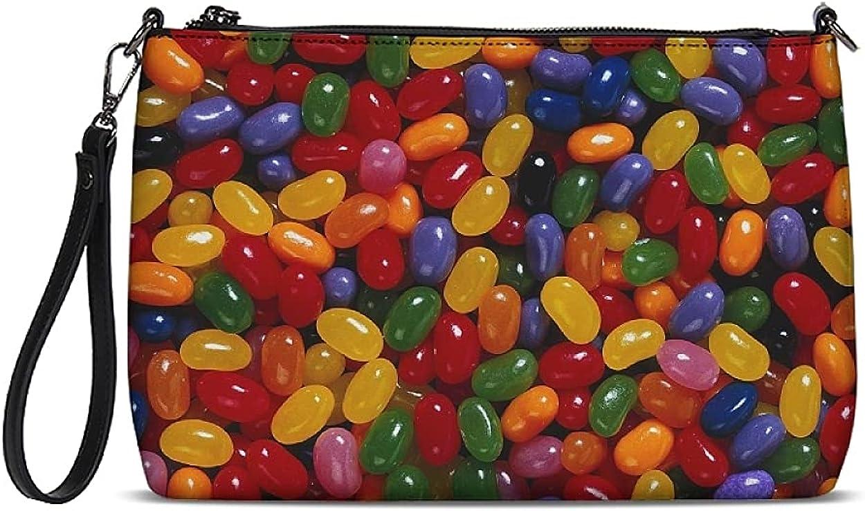 Candy Clutch Purses Women Wallet Crossbody Bag Wristlet Handbags Daily Zip Pouch for Girls