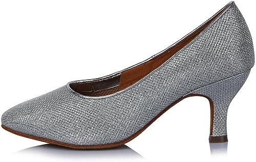 YFF Haut Talon pour femmes chaussures de danse de bal tango moderne d'Amérique latine