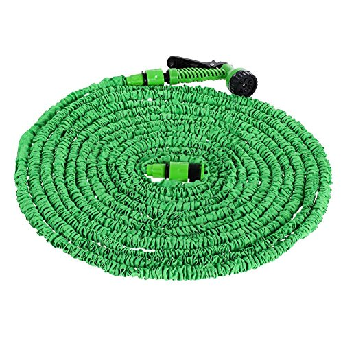 Everpert Flexibler Gartenschlauch, 200FT - 60m flexischlauch Schlauch Dehnbar Erweiterungs Gartenschläuche Brause Düse Flexi Gartenschlauch für Autowäsche,Gartenbewässerung,Hof
