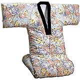裏フリースかいまき布団ブルー系(衿カバー付き) 遠赤綿入り 0320920