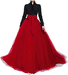 red tulle ball gown
