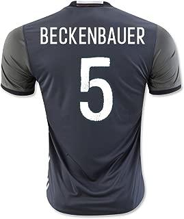 #5 Beckenbauer Black Away Match Soccer Adult EURO 2016 Jersey