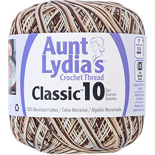Aunt Lydia 154.0992 Classic Crochet Thread, Shaded Brown