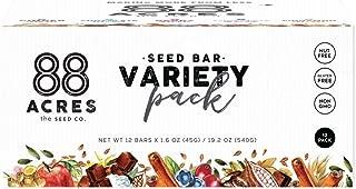 88 Acres Variety Pack Seed Granola Bars, Gluten-free, Nut-free, Non-gmo, Vegan (1.6 Oz, 12 pack)