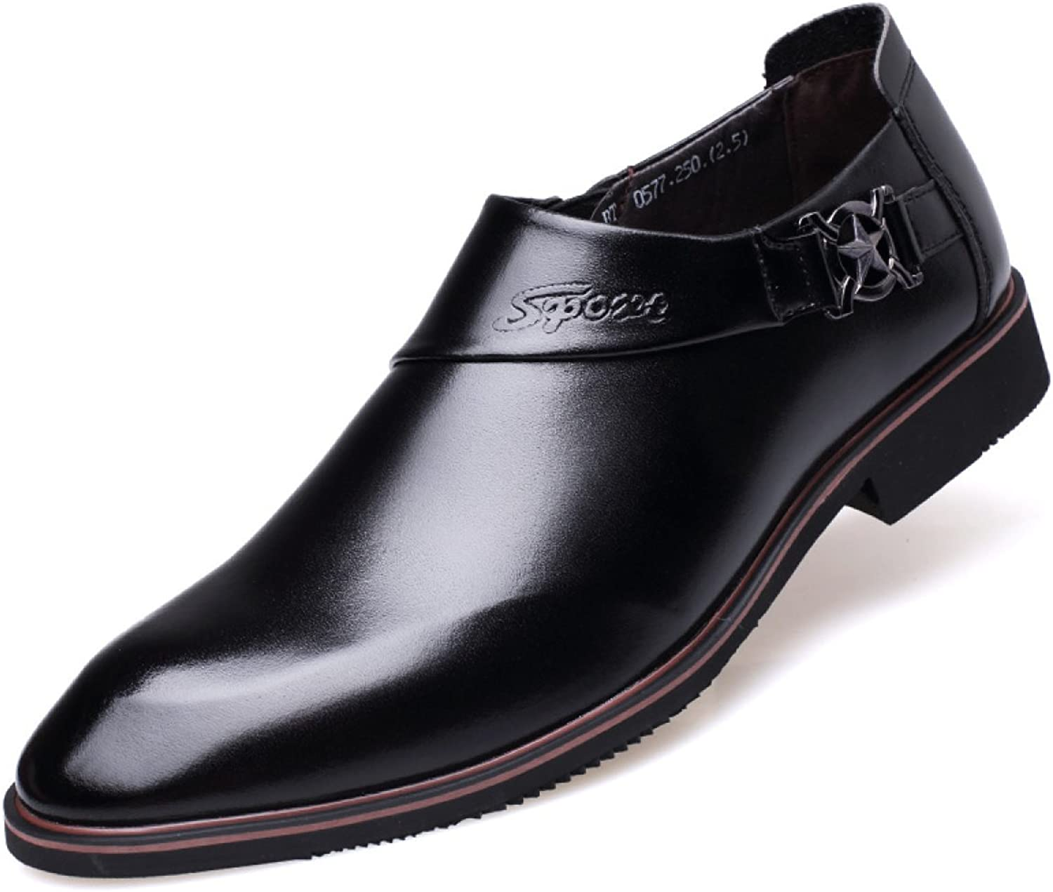 Men's Business Dress Leather shoes Casual Wedding Pointed Toe Oxfords