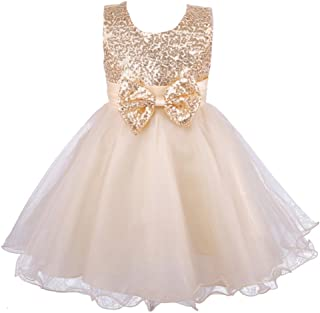 Girls' Sequined Formal Wedding Bridesmaid Party Dress