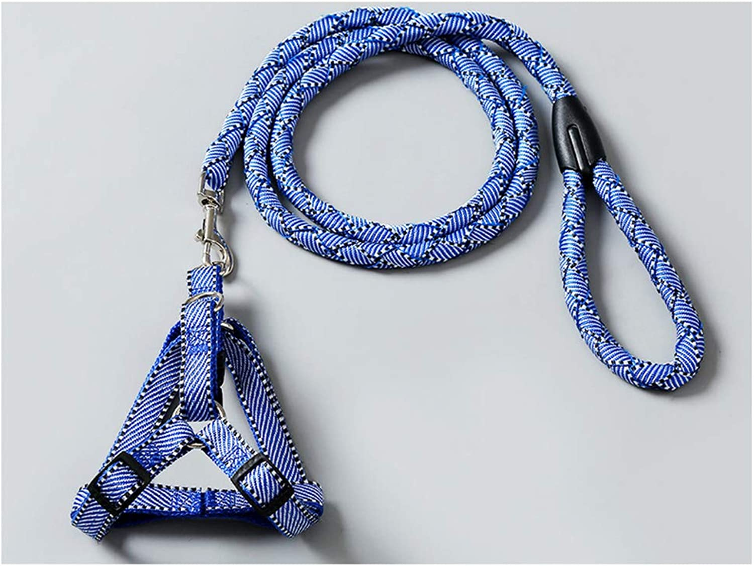 OPPALE Pet Leash HandWoven Dog Leash Rope Chest Strap Dog Leash Dog Chain Small Dog Puppy Pet Supplies Stretchable Dog pet Leash (color   bluee, Size   L12.5kg)