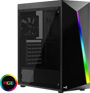 Aerocool SHARD, caja de PC, ATX, panel acrílico, RGB 13 modos, ventilador 12cm