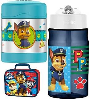Thermos Funtainer 10 oz Food Jar, 12 oz Hydration Bottle Lunch Kit - Paw Patrol
