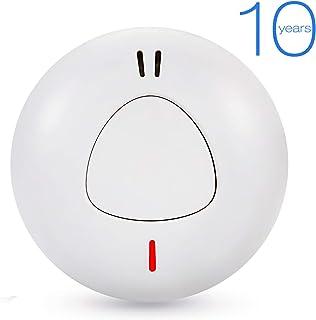 Sendowtek Detector de Humo Independiente Alarma de Humo Rilevatore di Fumo Vida útil de La Batería de 10 Años Certificación TUV EN14604 CE Voz de 85dB para Escuela/Dormitorio/Oficina (1)