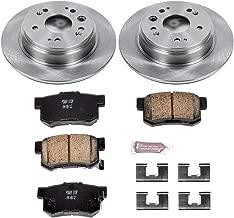 Power Stop KOE6172 Rear Brake Kit- Stock Replacement Brake Rotors and Ceramic Brake Pads