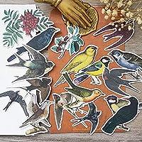 17ピース鳥ステッカー工芸品とスクラップブッキングステッカー子供のおもちゃの本装飾ステッカーDIY文房具