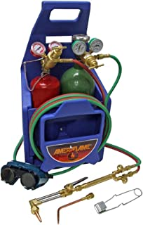 Ameriflame TI350T Medium/Heavy Duty Portable Welding/Cutting/Brazing Outfit with Plastic Carrying Stand Plus Oxygen and Ac...