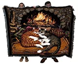 All Burned Out Cat - Charles Wysocki - Cotton Woven Blanket Throw - Made in The USA (72x54)