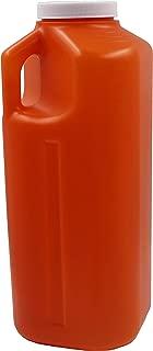 Healthstar 24 Hour Urine Collector Specimen Container 3,000 Milliliter | Leak Proof Screw Cap Lid, No Odor, Graduated Measuring, Durable - Amber Color