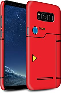 Gloss Phone Case for Samsung Galaxy S8/G950 Anime Cartoon Codex Red Design Glossy Hard Snap On Cover