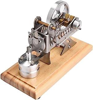 Mini Motor Stirling, LED Motor de Vacío Air Stirling Modelo de Motor Electricidad Divertida Modelo de Generador de Energía Modelo de Enseñanza de Laboratorio Física para Ingenieros Niños Estudiantes
