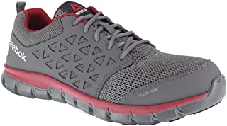 Reebok Men's Sublite Cushion Work EH Alloy Safety Toe Athletic Oxford Grey