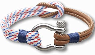Jude Jewelers PU Leather Rope Cord Knot Sailor Navy Nautical Cocktail Party Graduation Bracelet
