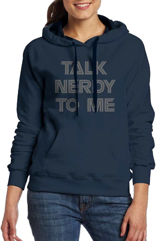 Take Nerdy To Me Womens Geek Long Sleeve Hoodie With Kangaroo Pocket
