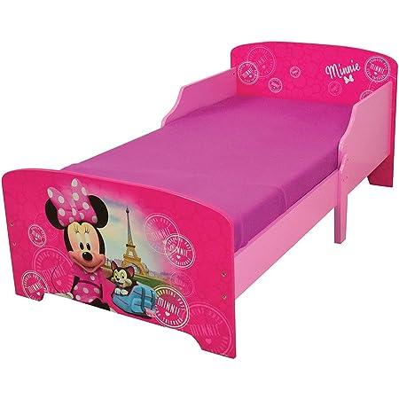 Fun House 712861 Disney Minnie Paris Lit pour Enfant 140X70 CM avec Lattes, MDF, 144 x 77 x 59 cm
