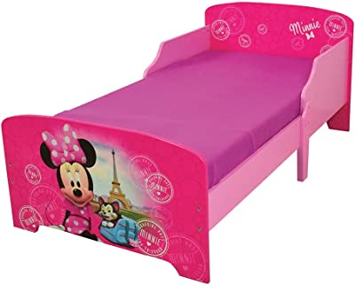Fun House 712861 Disney Minnie Paris Kinderbett 140 x 70 cm mit Latten, MDF, 144 x 77 x 59 cm