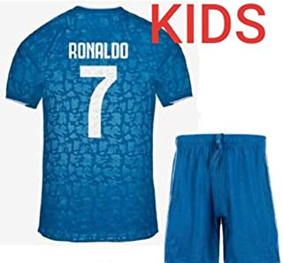 Soccer Juventus Blue Azul Third Ronaldo Kids Kit 2019