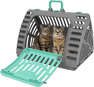 SportPet Designs Foldable Travel Cat Carrier – Front Door Plastic Collapsible..