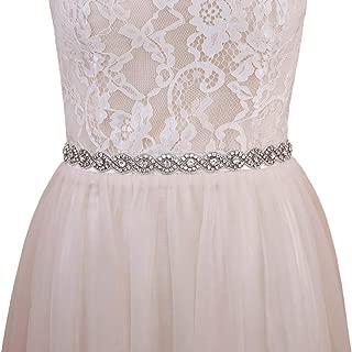 Azaleas Women's Crystal Bridal Sash Belt Thin Wedding Belts Sash with Crystal for Wedding Dress