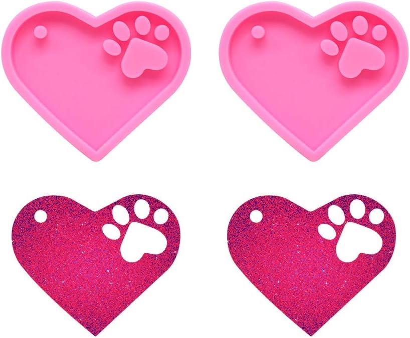 Nifocc Max 57% OFF Heart Max 53% OFF Paw Keychain Char Mold Love Silicone