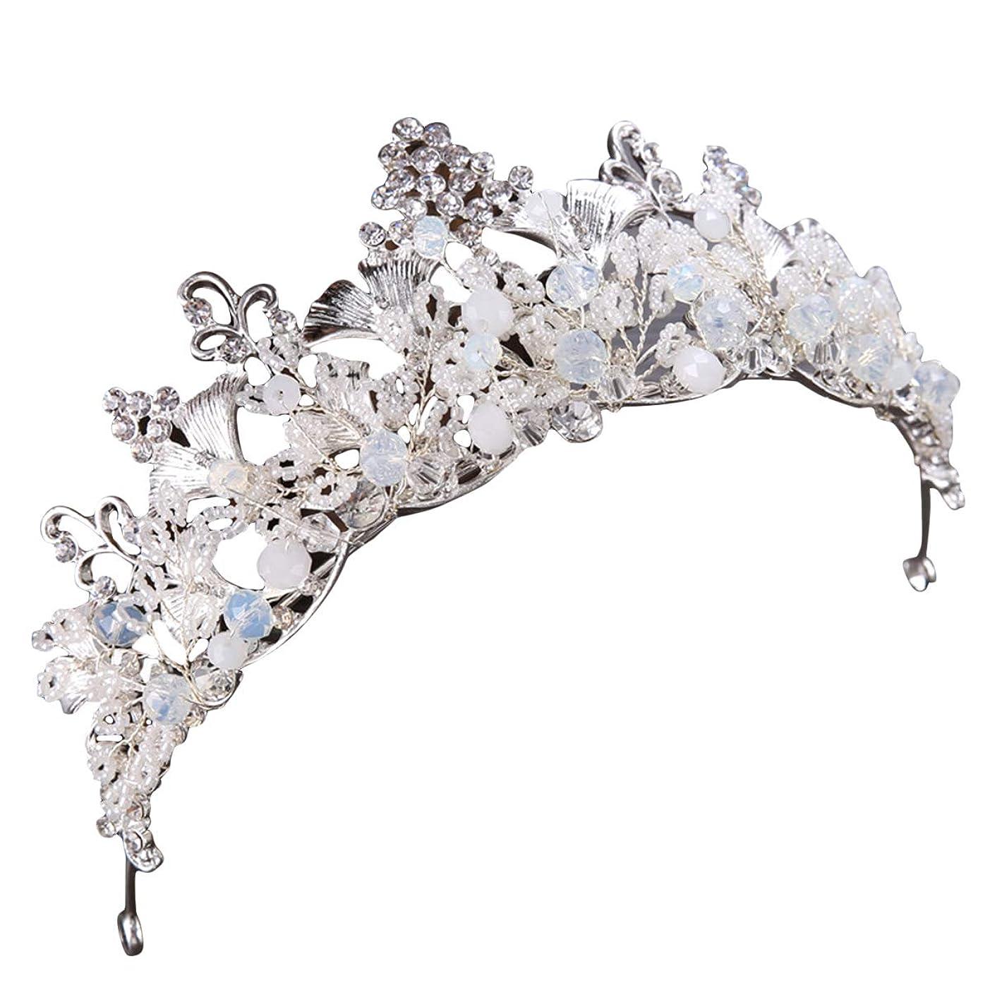 不快理論心理的Lurrose 結婚式のためのレトロな王冠の花嫁の手工芸品のラインストーンの王冠の宝石類のヘアアクセサリー