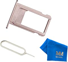 MMOBIEL SIM Card Tray Slot Replacement Part Compatible with iPhone 6S Plus 5.5 Inch (Rosegold) incl Sim pin