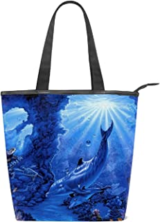 Canvas Bag,Dolphins?Women Simple Casual Tote Bag Crossbody Bags Shoulder Bag
