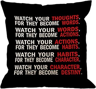 black white and red pillows