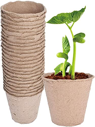 "lowest 3.2"" Seedling Paper Pots Biodegradable online Paper Pulp Peat Pots Plant Pots Seedling Cups Nursery Pots Plant Container Fit for Garden Nursery Seedlings online Seeds Starting 100 Pcs outlet online sale"