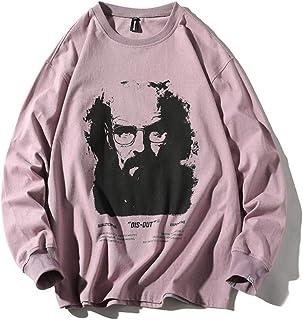 YANGPP Pullover da Uomo Allentato Hip-Hop Street Primavera E Autunno
