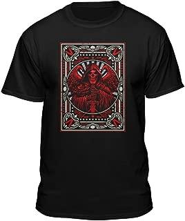 Death Grim Reaper Men's Playing Card Skull Skeleton Gothic T-Shirt Black