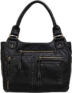 Grainy Washed Double Shoulder Bag