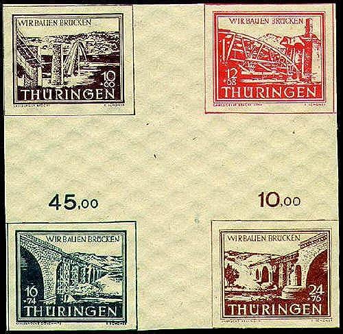Goldhahn SBZ Wiederaufbau 1946  Herzstück postfrisch  Briefmarken für Sammler