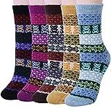 Vellette Calcetines termicos ricos en algodon para Hombre-Muje-Ideales para invierno EU 38-44 (5 Pares)